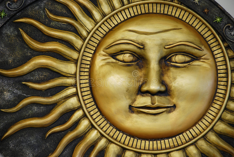 Sun Engraving royalty free stock photography
