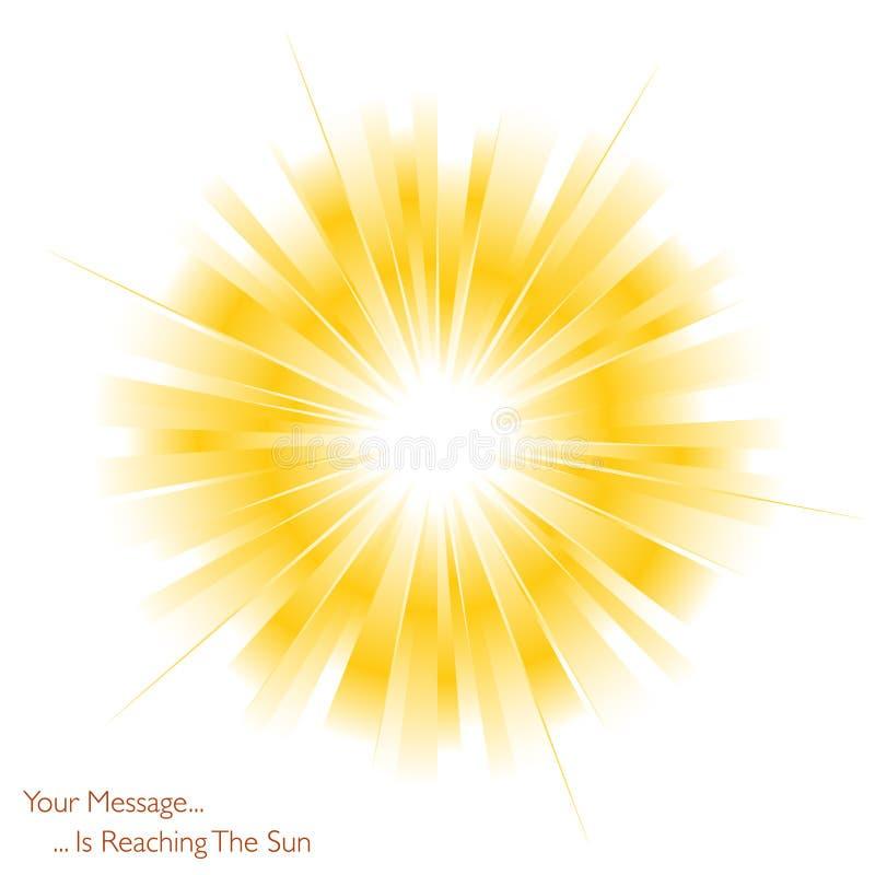 Sun está brilhando ilustração stock
