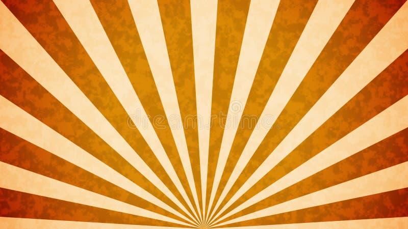 Sun estourou o fundo retro ilustração royalty free