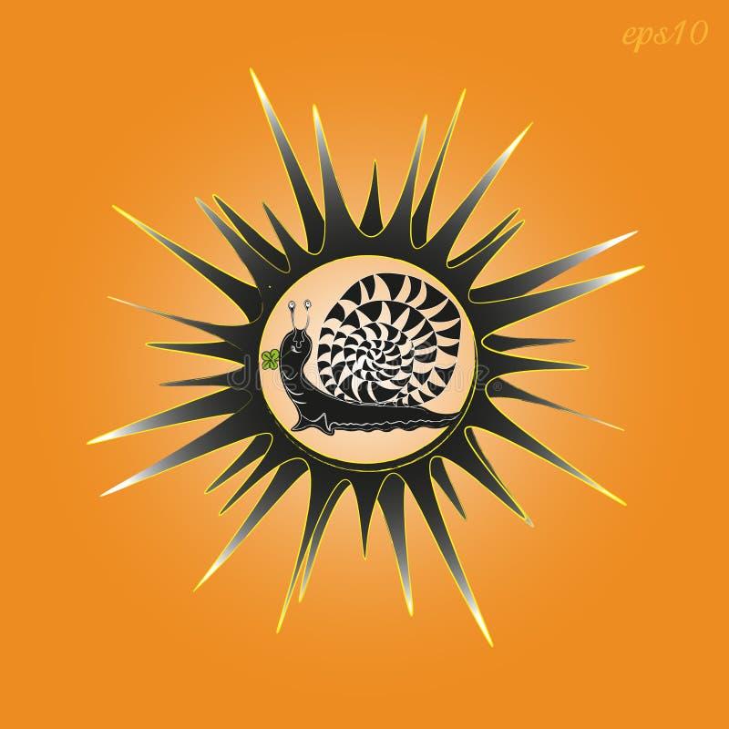 Sun et escargot une photo illustration libre de droits