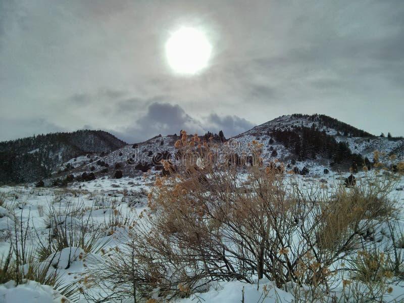 Sun et neige image stock