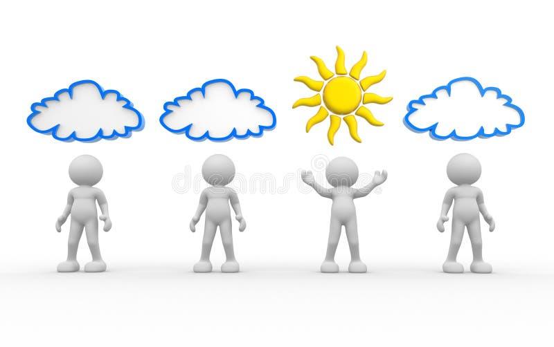 Sun et nuage illustration libre de droits