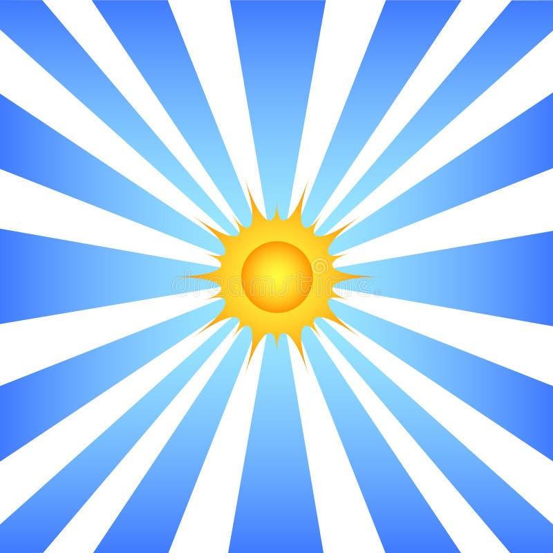 Sun et rayons illustration stock