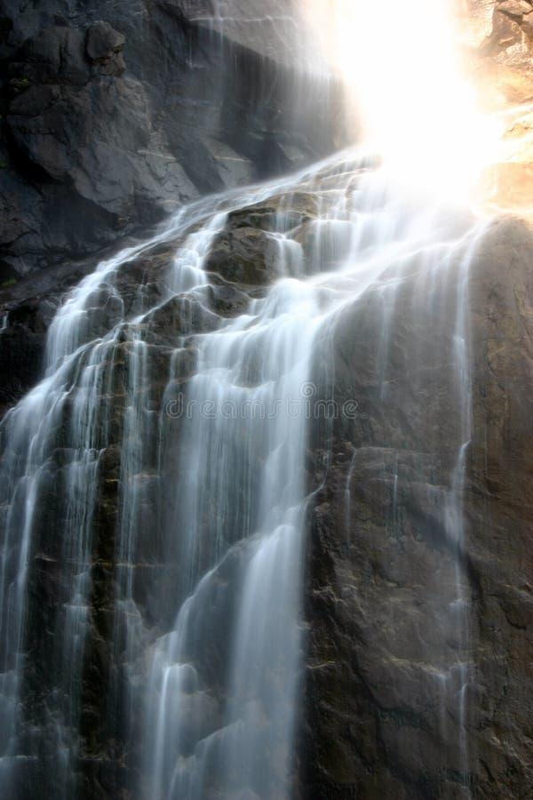 Sun et Yosemite Falls photographie stock libre de droits