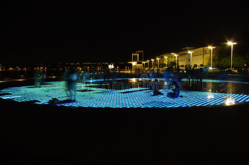 Sun etapp i Zadar royaltyfri fotografi