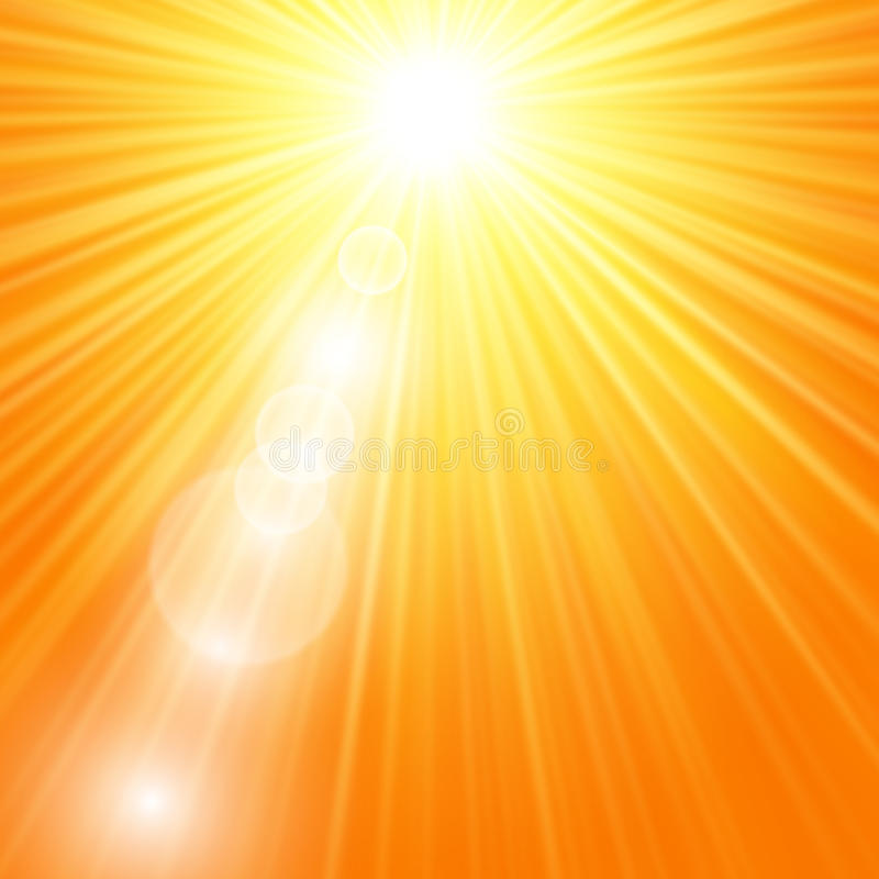 Sun-Explosion mit Aufflackern stock abbildung