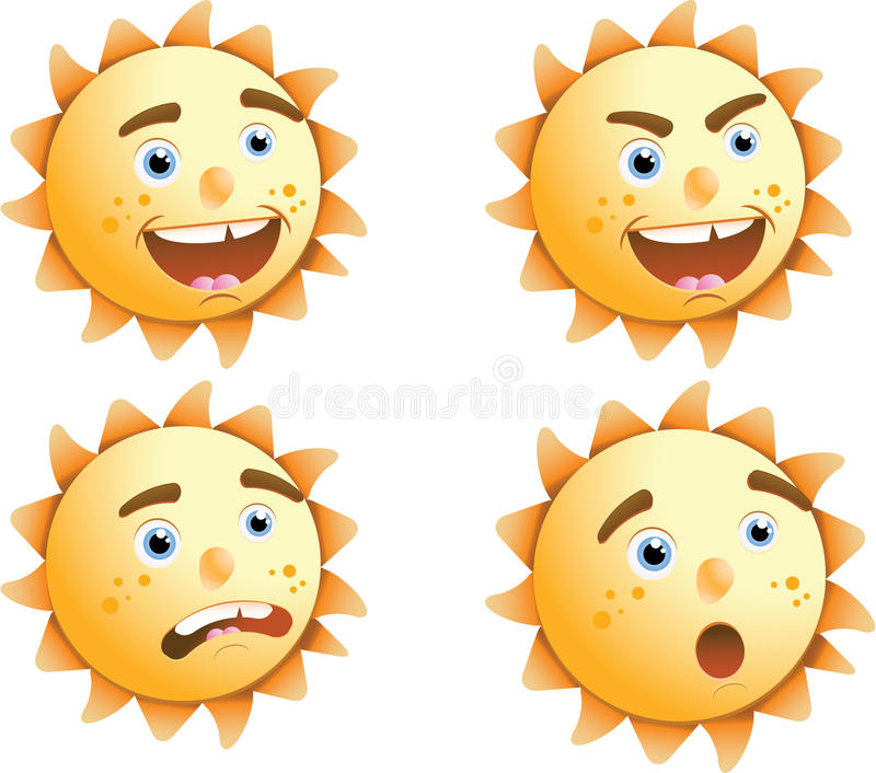 Download Sun expressions stock vector. Image of beverage, angry - 22520713