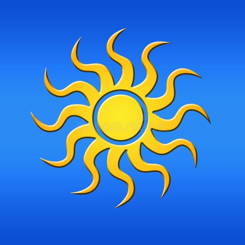 sun för blå sky