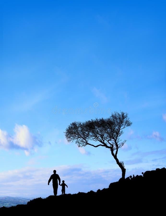 sun för faderskyson fotografering för bildbyråer