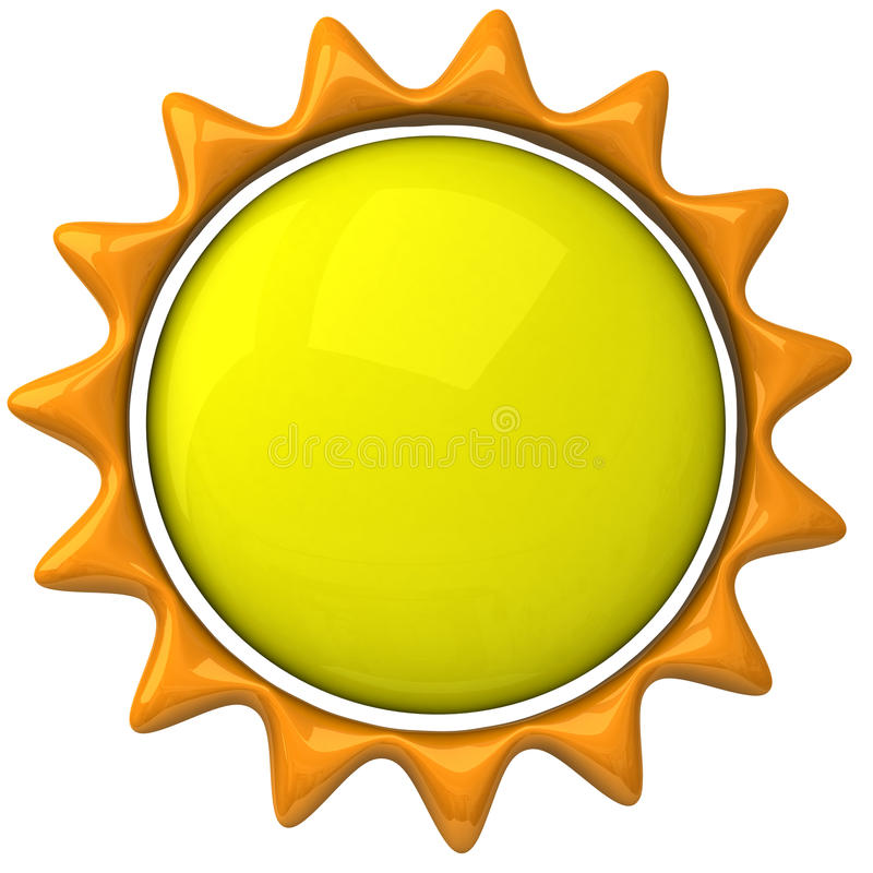 sun för symbol 3d stock illustrationer