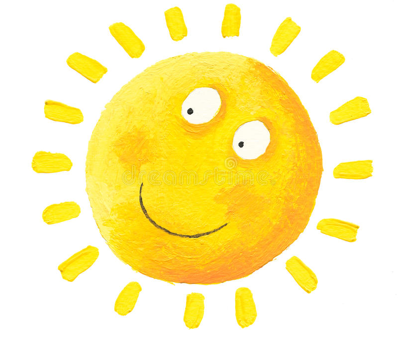 Sun feliz ilustração stock
