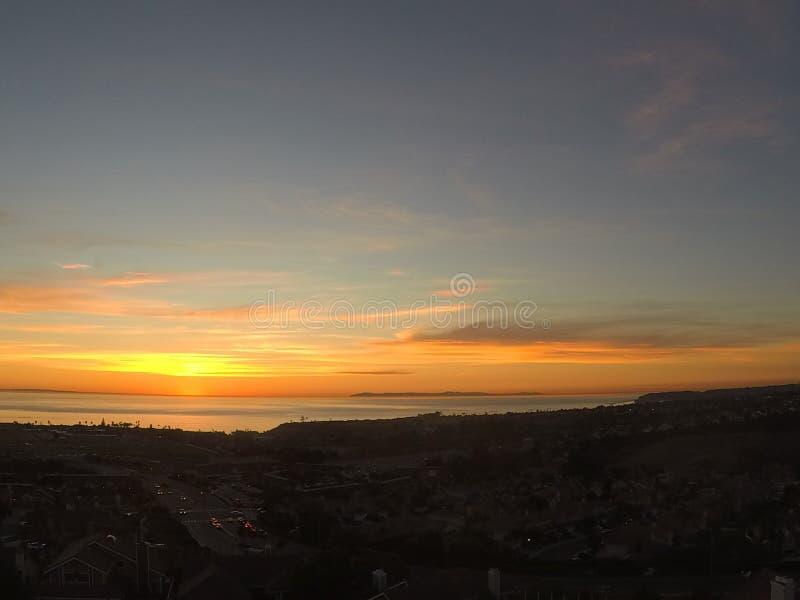 Sun fijó en California fotografía de archivo libre de regalías