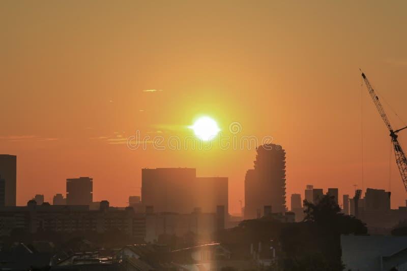 Sun fijó la visión en Singapur foto de archivo libre de regalías