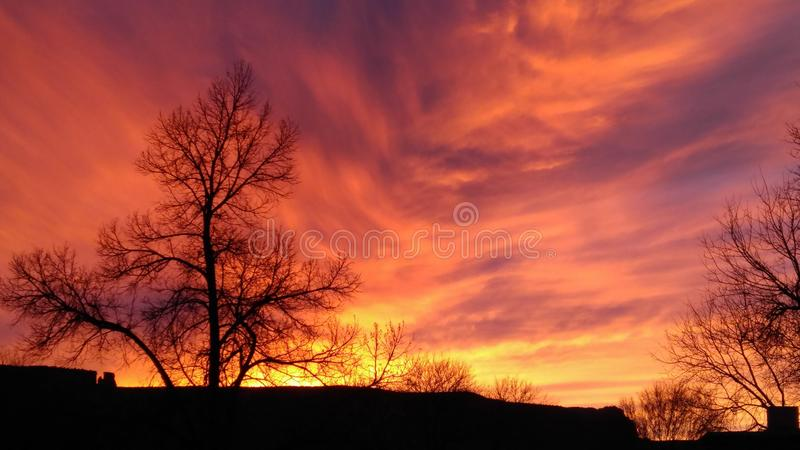 Sun on Fire royalty free stock images