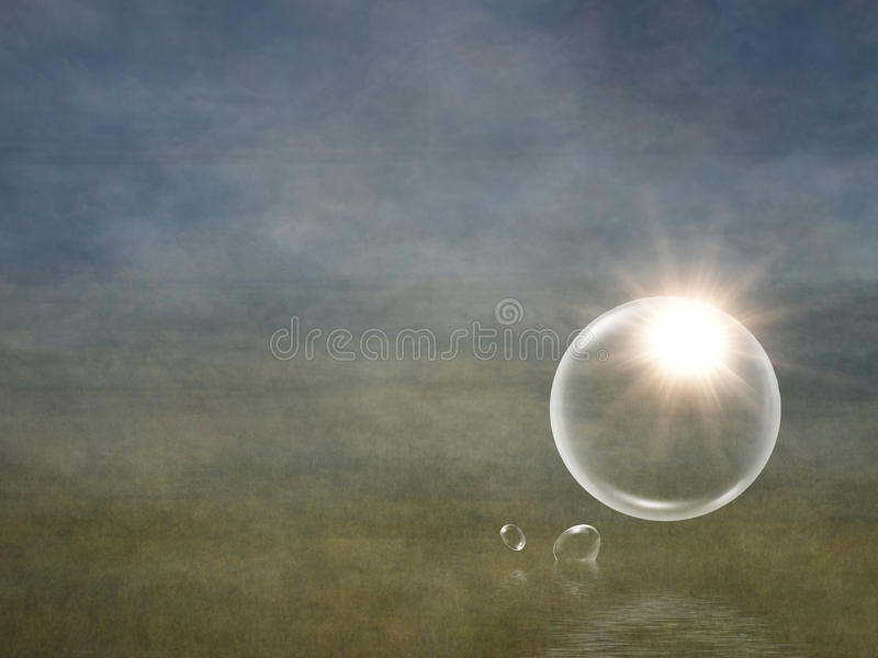 Download Sun flare in bubble stock illustration. Image of contrast - 23366471