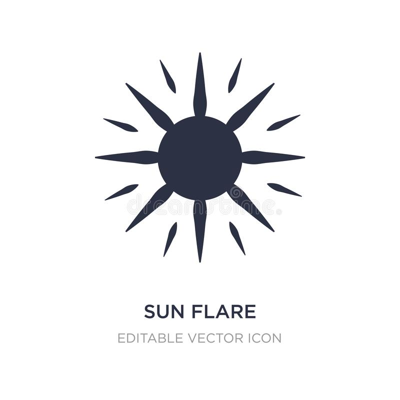 sun flare icon on white background. Simple element illustration from Nature concept vector illustration
