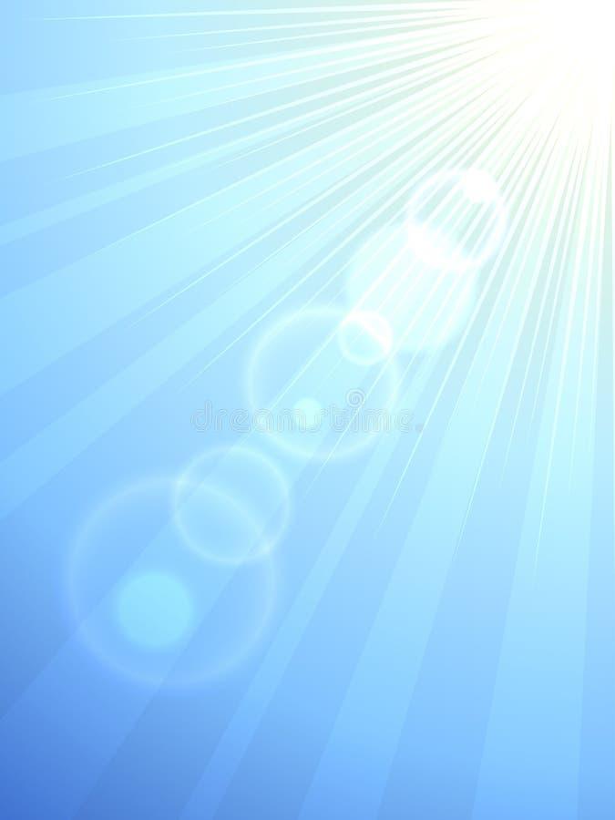 Sun flare vector background
