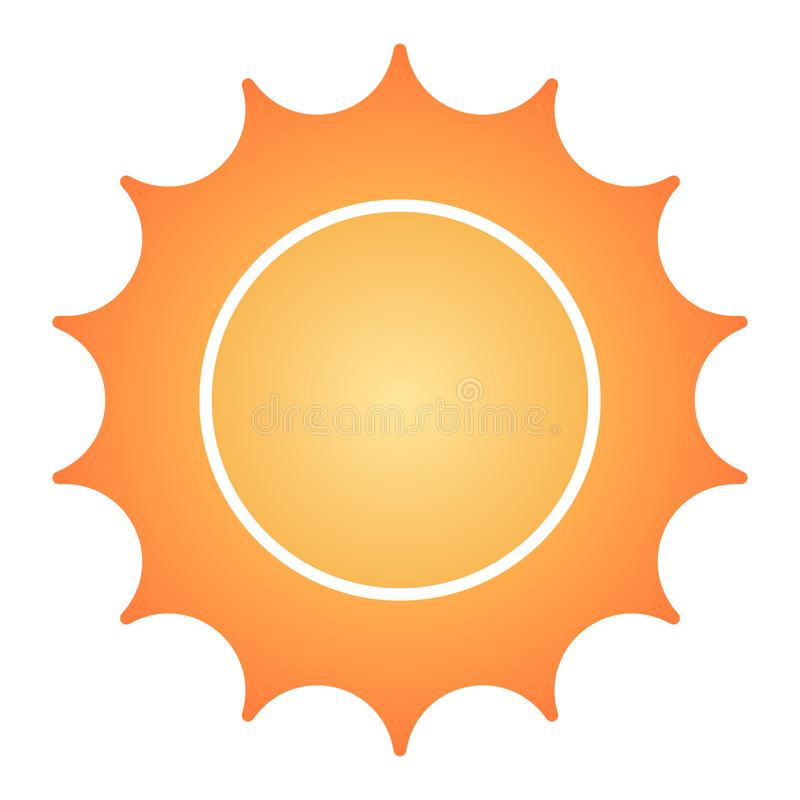 Sun flat icon. Star color icons in trendy flat style. Sunshine gradient style design, designed for web and app. Eps 10. Sun flat icon. Star color icons in royalty free illustration