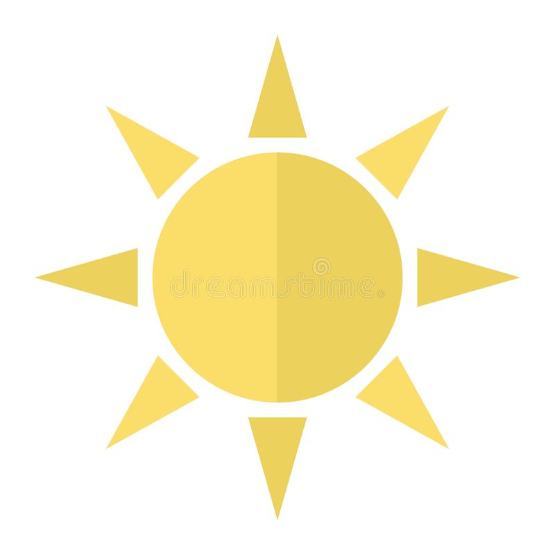 Sun flat icon, weather and sunshine vector illustration