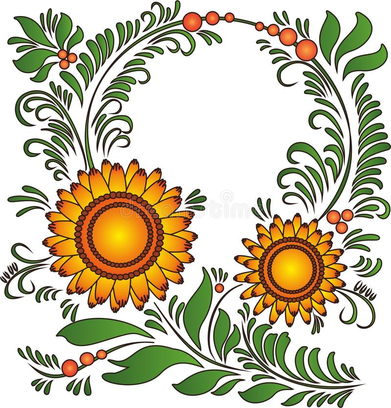 Sun-flor imagem de stock royalty free