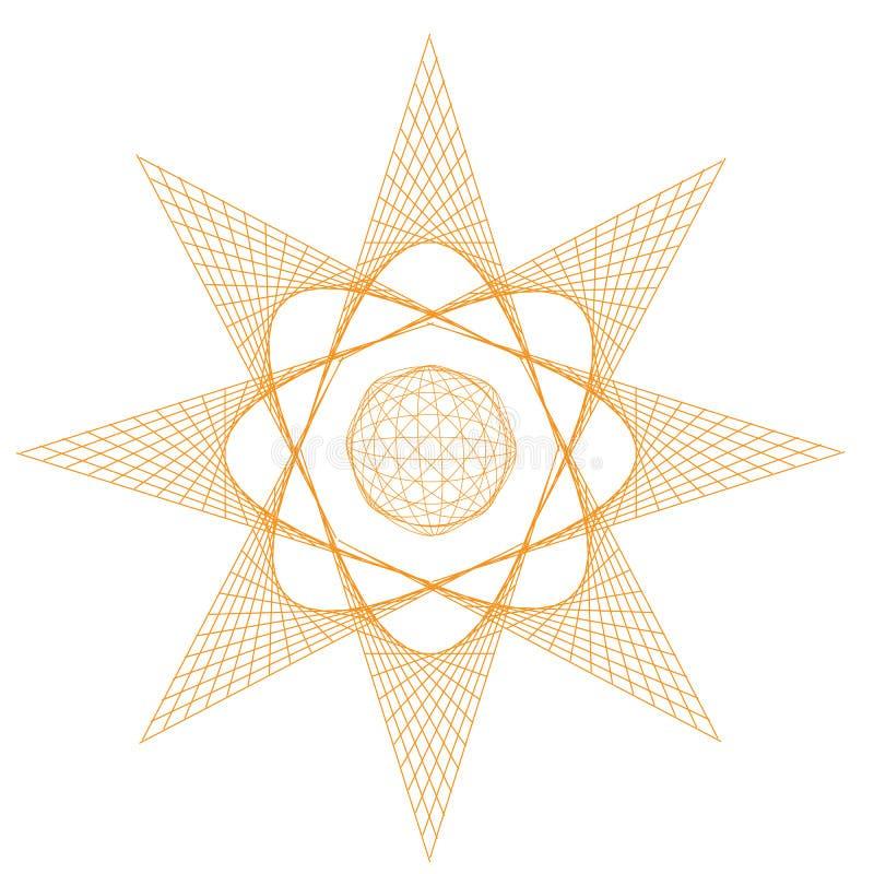 Sun, flor ou estrela imagem de stock royalty free