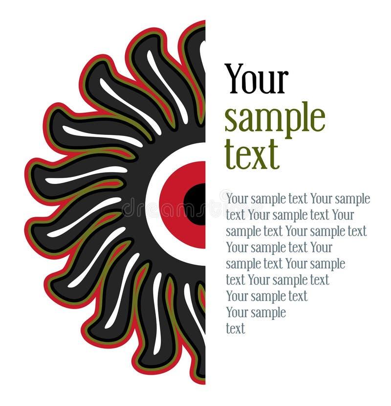Sun floral pattern vector illustration