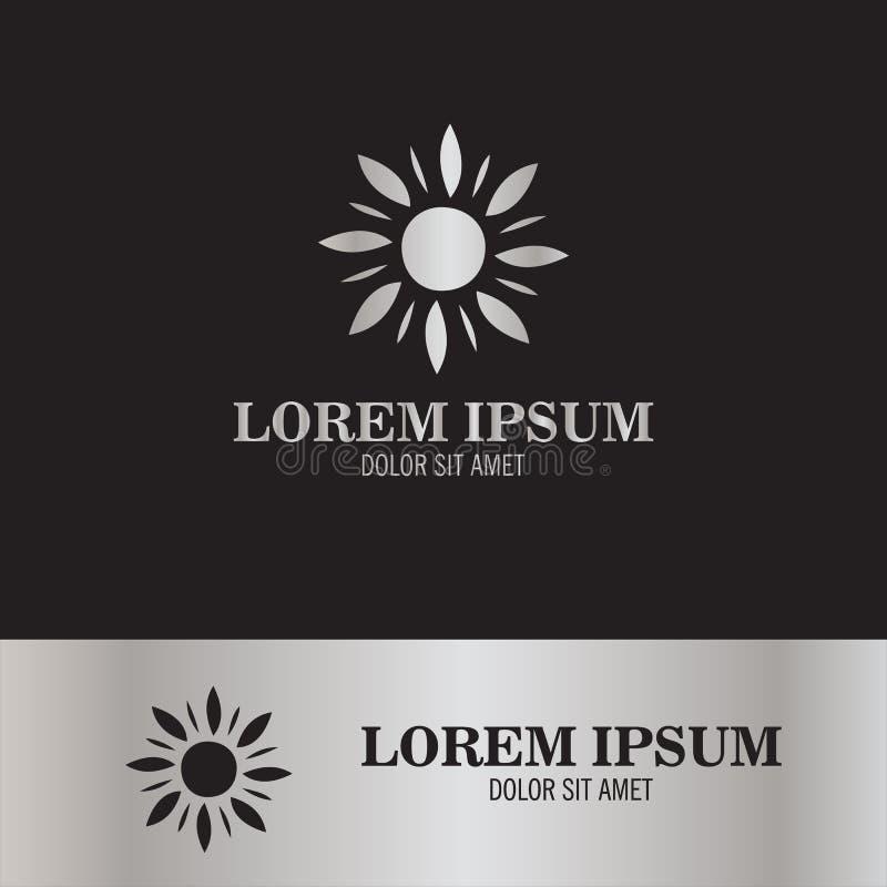 Sun flower abstract logo royalty free illustration