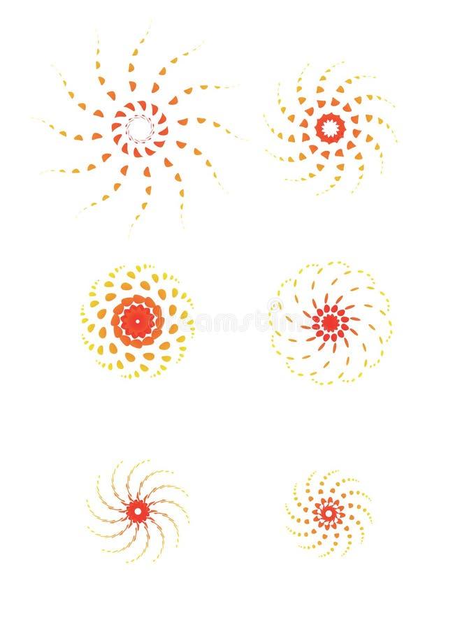 Sun-Flower/EPS imagens de stock royalty free