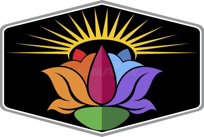 Sun flower logo stock illustration
