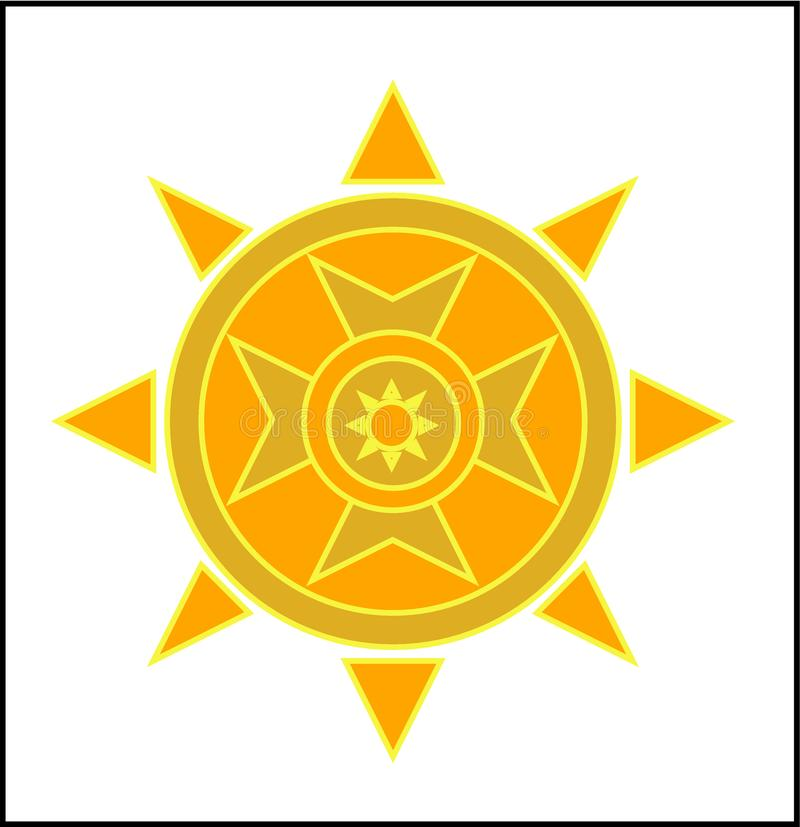 Sun flower type logo royalty free illustration