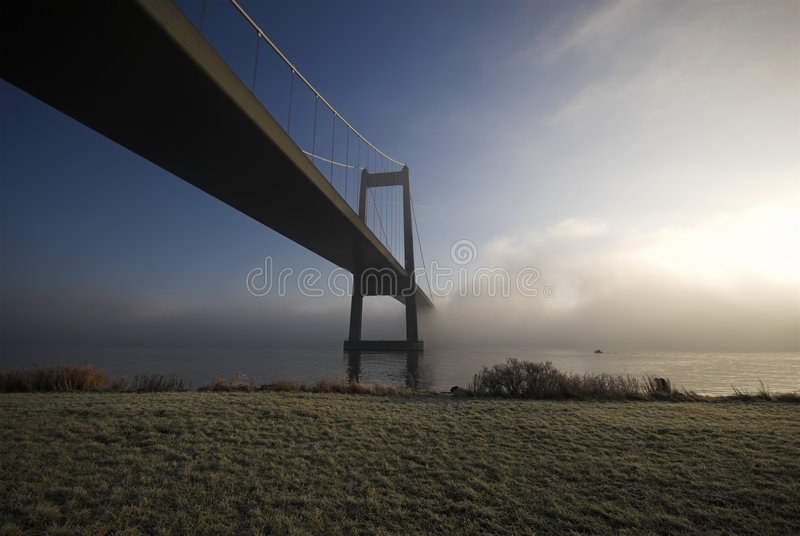 Sun, Fog and Bridge royalty free stock photo