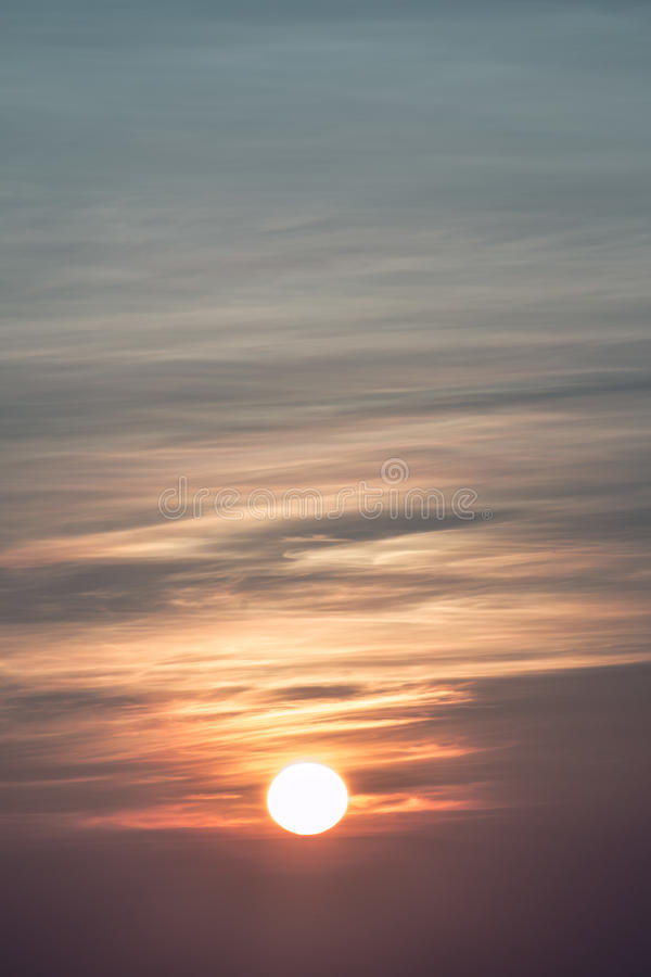 Sun in the foggy mornings. Sun in the foggy morning royalty free stock photo