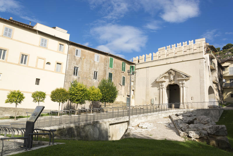 Sun Gate, Palestrina stock photo