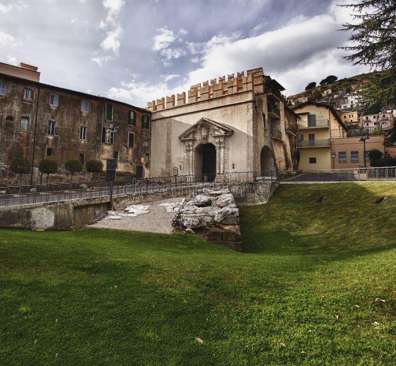 Sun Gate , Palestrina, Italy royalty free stock image