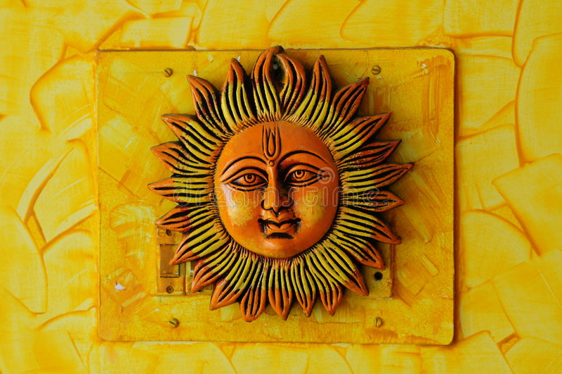 Sun-Gesicht stockfotografie