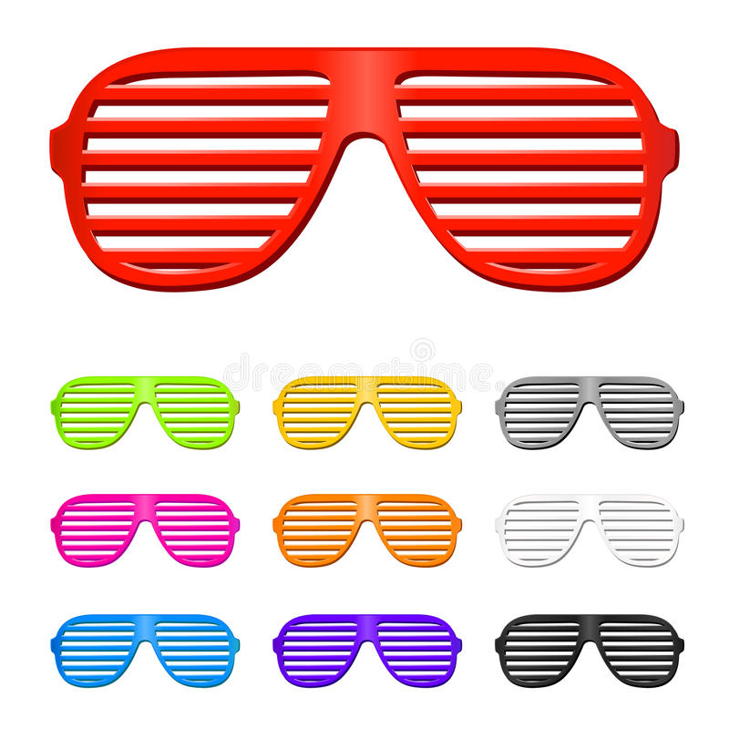 Sun-Gläser stock abbildung