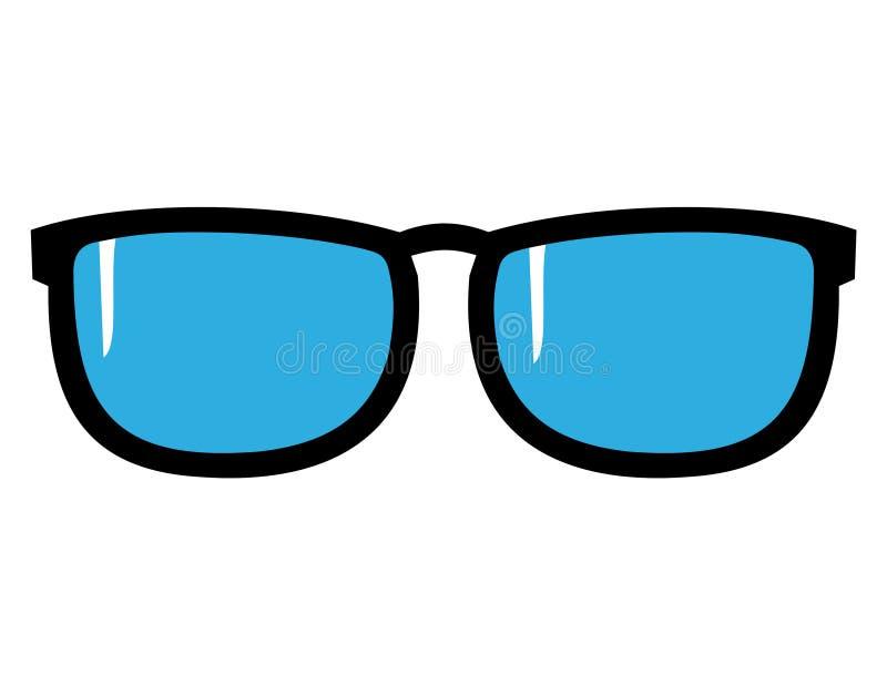 Sun-Gläser mit Schimmer lizenzfreie abbildung