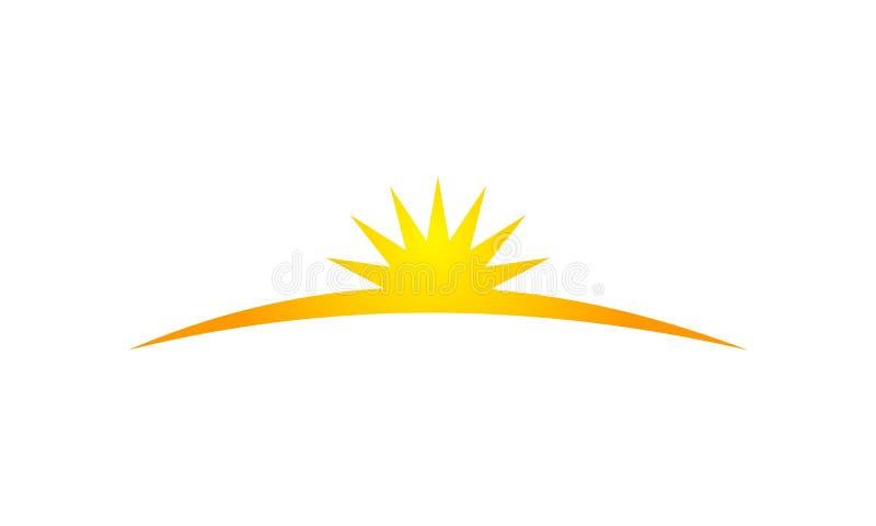 Sun-Glanz-Schablone vektor abbildung