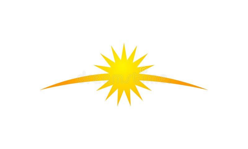 Sun-Glanz-Schablone stock abbildung