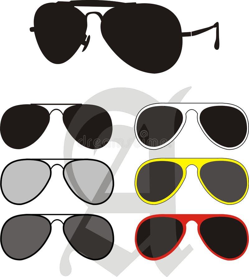 Sun-Glas-Ansammlung lizenzfreies stockbild