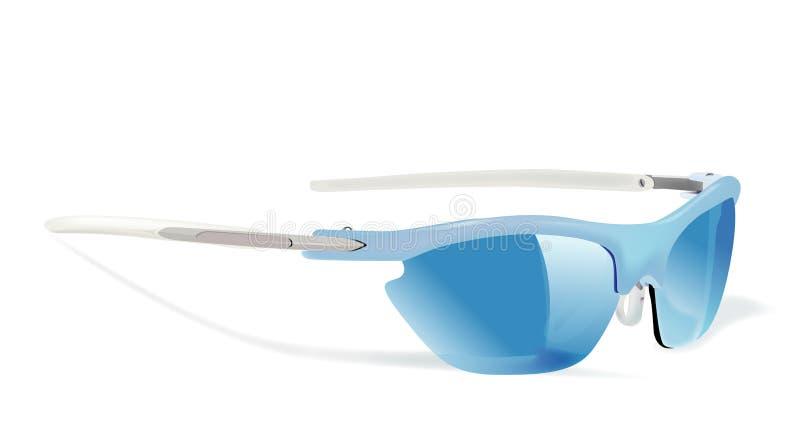Sun glass blue stock illustration