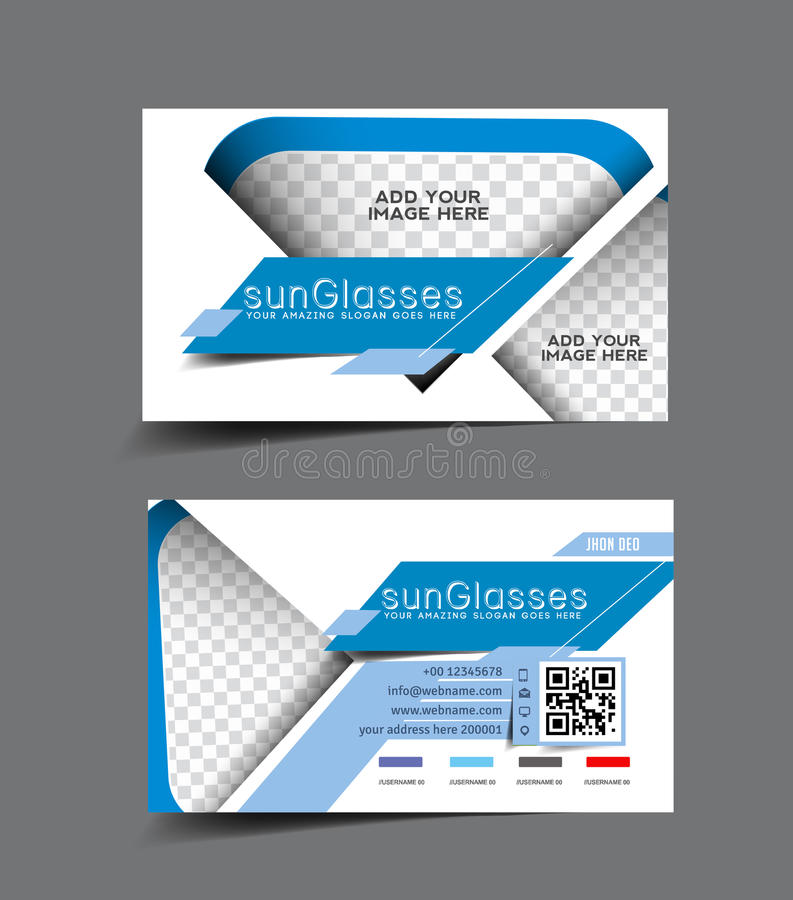 Sun Glass Store Business Card Stock Vector - Illustration of light ...