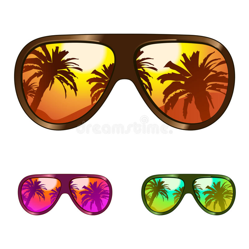 Download Sun glasses stock vector. Image of holiday, illustration - 14138109