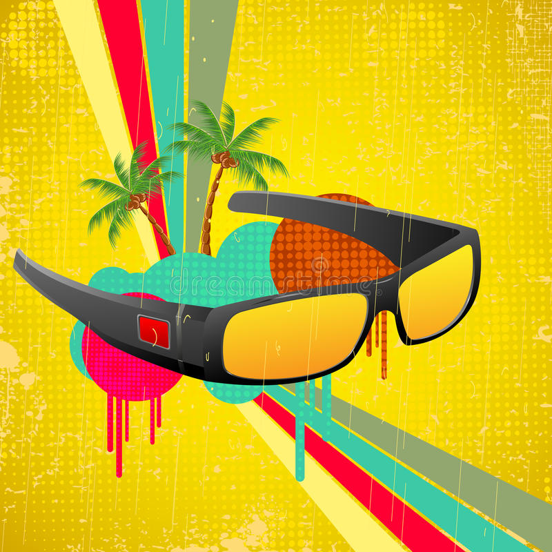 Download Sun Glasses stock vector. Image of frame, plastic, aviator - 26796647
