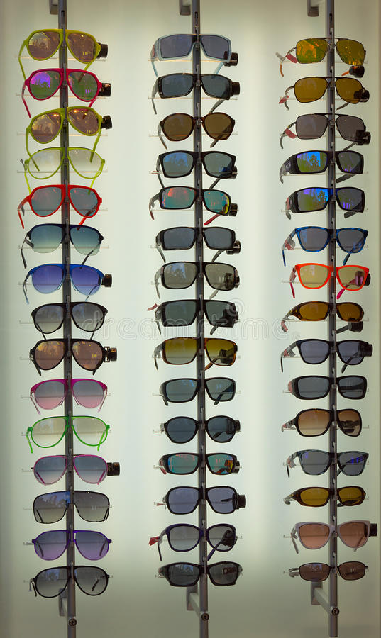 Sun glasses set. Collection of glamour sun glasses stock photo