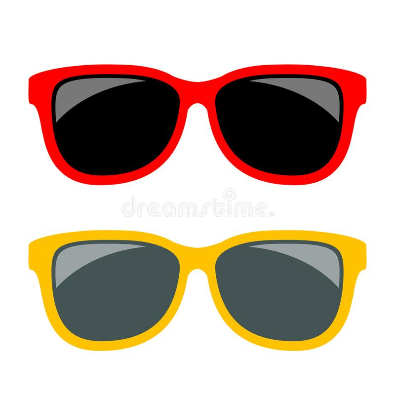 Sun glasses vector icon. S set vector illustration