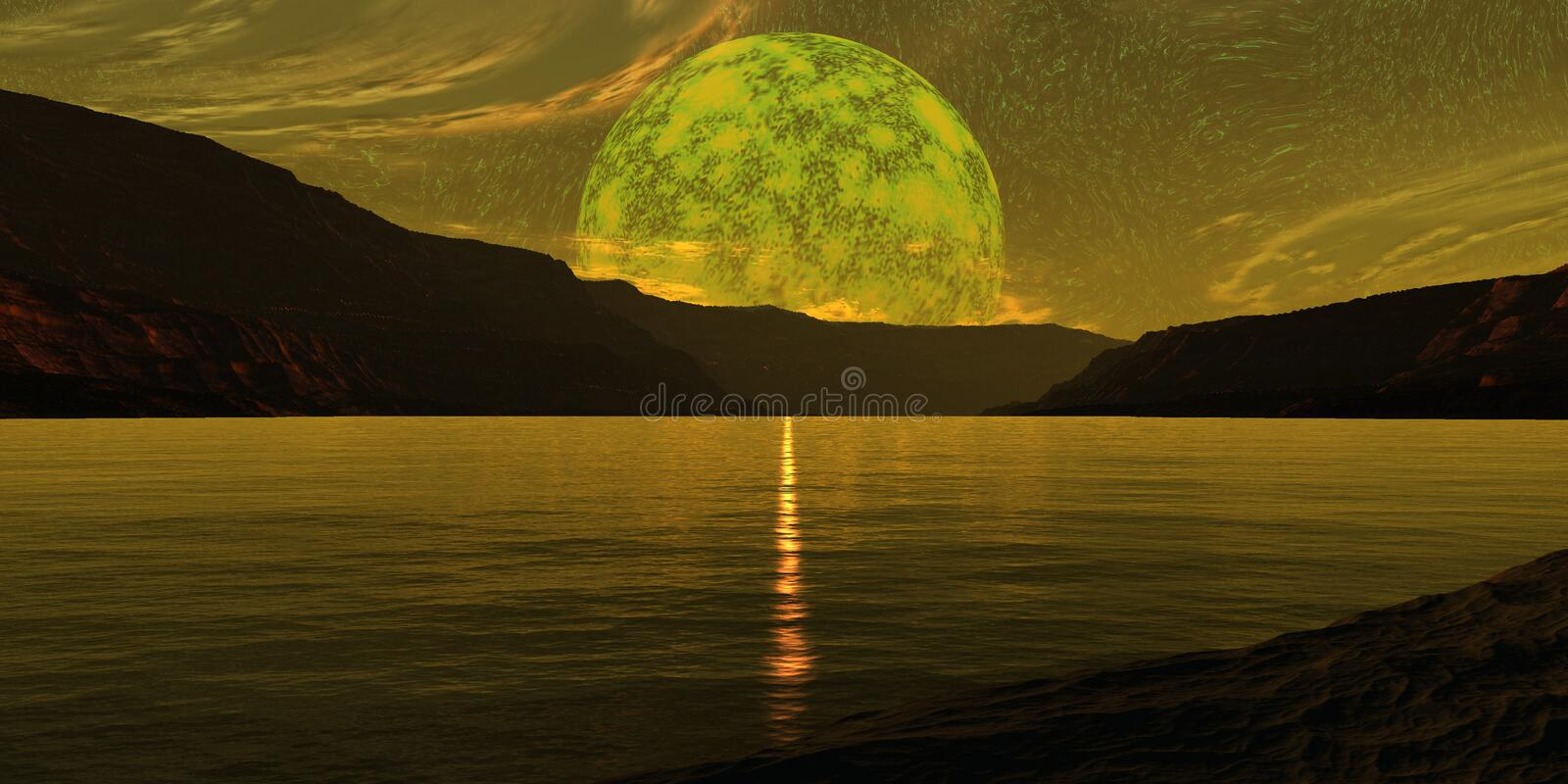 Download Sun glow stock photo. Image of primary, color, moon, night - 1269408