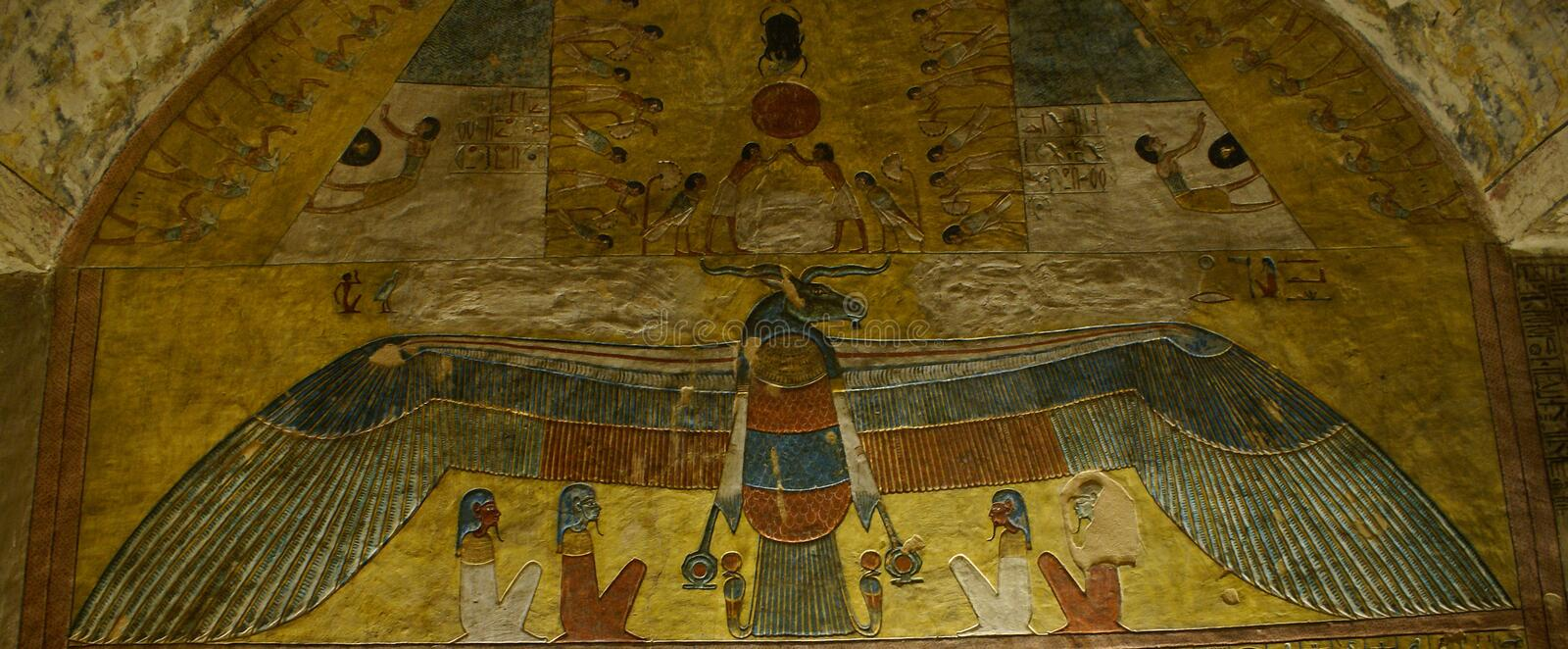 The Sun God Ra or Re stock photo