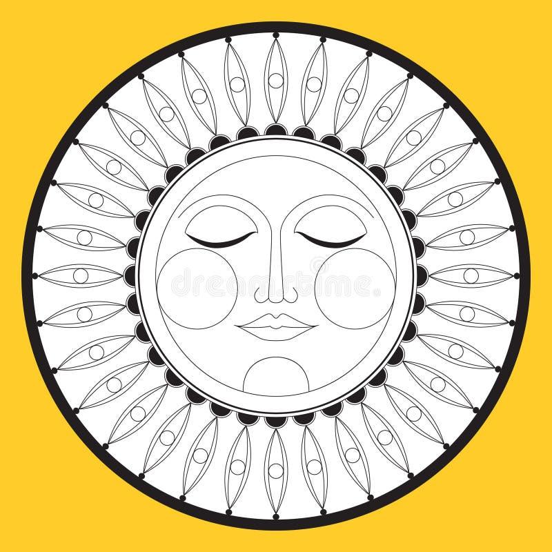Sun, graphic ethnic symbol icon Vector. Sun, graphic ethnic symbol, icon. Vector vector illustration