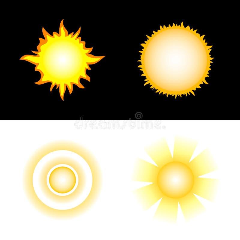Sun. Graphismes de vecteur illustration libre de droits